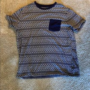 Tribal patterned men's thick shirt